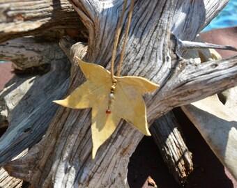 Ceramic Leaf Necklace