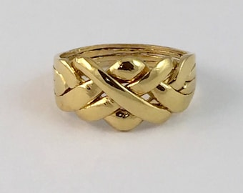 Puzzle Ring , in Sterling Silver 14k Gold Plated. The Original Puzzle Ring  .