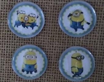 Minion Magnets - Cartoon Magnets - Kids Room Decorating