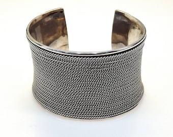 Sterling Silver Spiga Cuff Bracelet # 253627154546