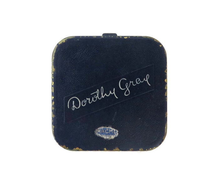 Dorothy Gray Compact, Vintage Powder Compact, 1940s Mirrored Compact, Makeup Case, Collectors Makeup Compact