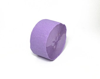 Lavender Crepe Paper Streamer Roll - 81 Feet Long - Paper Craft Party Supplies