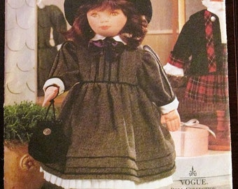 """Vogue Craft 7007 OLIVIA 18"""" Doll with Full Color Face Transfer Sewing Pattern Linda Carr UNCUT"""