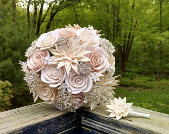 Clay Wedding Bouquet - Clay Bouquet - Custom Clay Bouquet - Custom Floral Bouquet - Alternative Wedding Bouquet - Floral Bouquet - DEPOSIT