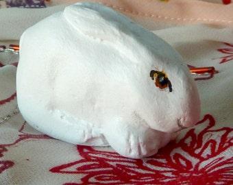 Rabbit small figurine or cake decoration