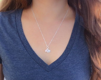 Good Luck, Love & Fertility Necklace, The Fertile Elephant charm necklace in sterling silver
