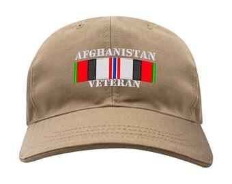 Afghanistan Veteran Campaign Ribbon Caps