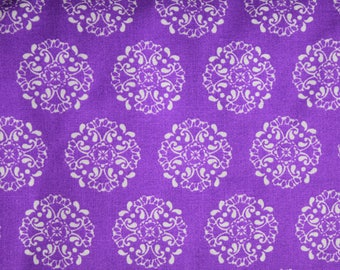Purple Medallions Fabric-Pre cut-100% Cotton
