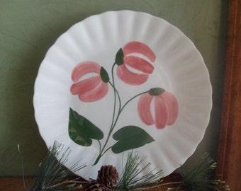 "Blue Ridge Mountain Bells Pattern Dinner Plate 9 1/4"",  Blue Ridge Pottery Company"
