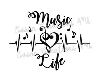 Music Life SVG Cut File