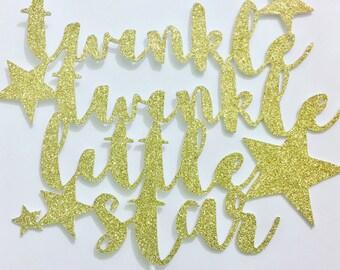 Twinkle Twinkle Little Star Cake topper | Baby Shower Cake Topper