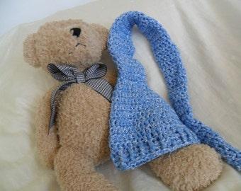 Blue Baby Long Tail Elf Hat - Blue Baby Elf Hat - Blue Baby Long Tail Hat - Blue Baby Long Tail Beanie - Preemie through Toddler