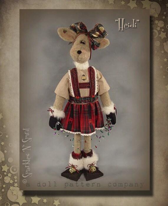 """Pattern: Heidi - 26"""" Reindeer Girl"""