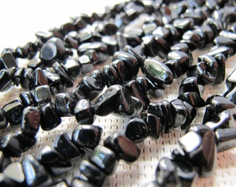 4-12mm Black Agate Chip Beads S279