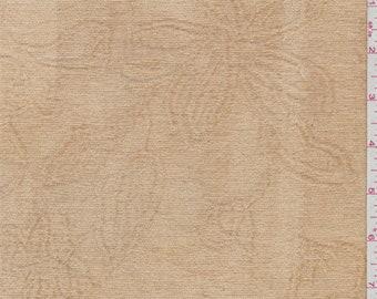 Buckskin Beige Chenille Jacquard, Fabric By The Yard