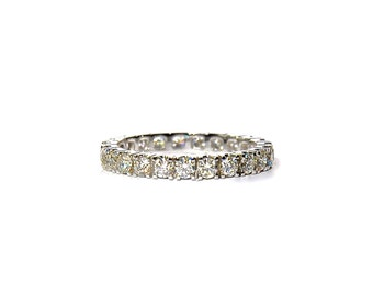 18k White Gold Pave Diamond Eternity Band/ Ring