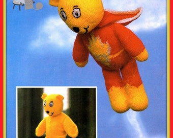 PDF Knitting Pattern for SuperTed Teddy Bear and Clothes Set - Instant Download