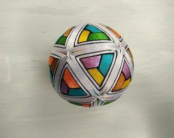 Temari Pattern stained glass Japanese souvenir