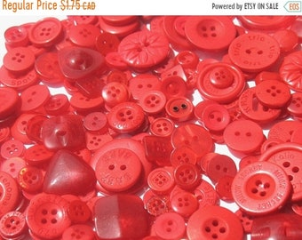 50% OFF - Cranberry Red - Button Selection