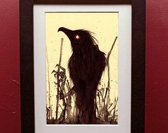 Splatter Bird Archival Art Print