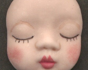 Polymer Closed Eyed Baby Face BBCL 4
