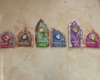 Little polymer clay Faery Doors