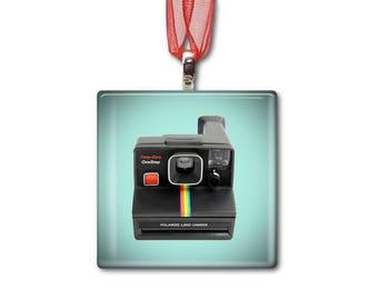 Time Zero One Step Polaroid Land Camera - Handmade Glass Photo Ornament