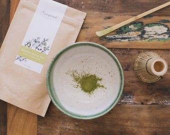 Matcha green tea set - green bowl