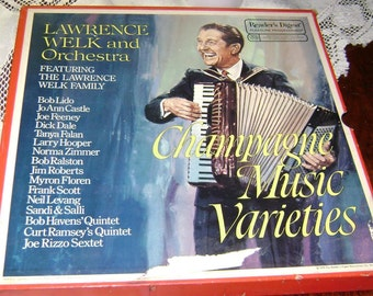 Lawrence Welk Champagne Music Varieties 6 LP Records