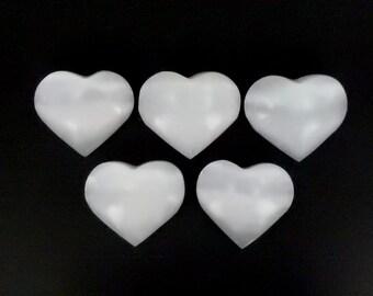 Selenite Heart Shaped Stone - Chakra - Metaphysical  (RK142B6)