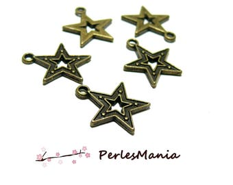 PAX 100 stars with PICOT toned charm pendants Bronze H1115605