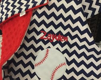 Baseball Baby Blanket   Personalized Baseball Baby Blanket   Baseball Name Baby Blanket   Sports Baby Blanket