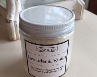 Aromatherapy Lavender and Vanilla Sugar Body Scrub