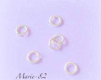 5.5 X 1 mm - sterling silver open rings