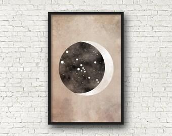 Taurus Constellation, Taurus Art, Wall Art Prints, Art Print Poster, Taurus Zodiac, Zodiac Print, Zodiac Sign