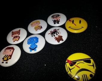 8 one inch Watchmen  buttonpins