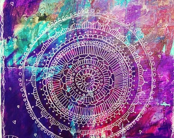 Mixed Media Mandalas Online 4 Week Class with Support
