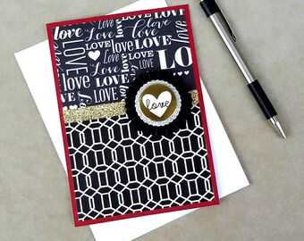 I Love You Card, Romance Card, Love Card, Lovers Card, Handmade Greeting Card, Confetti Bomb Card, Anniversary Card, Wedding Card, Love Note