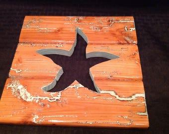 Fractal Art work starfish cutout