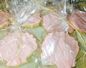 Custom Seashell Cookies
