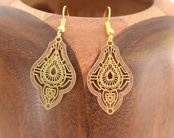Earrings Oriental Golden filgranes Golden filgranes Oriental clips
