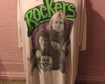 Rare WWF The Rockers Distressed Nightshirt 80's