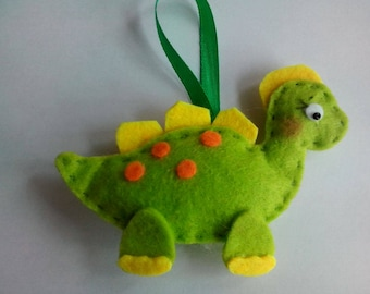 Attached small green dino
