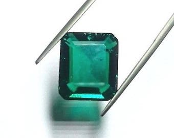 Lab-Created Hydrothermal Emerald Green AAA Octagon with minor Inclusions Loose Stones (4x2mm - 18x13mm)