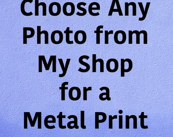 Any Image in my shop as Metal Print, Metal Wall Art, Ready to Hang, Home Decor, Large Wall Art, Bedroom, Office, Gift, Home Decor, Kitchen