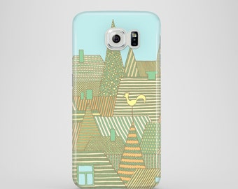 Golden Rooftops phone case / city phone case / Samsung Galaxy S7, Samsung galaxy S6, Samsung Galaxy S6 Edge, Samsung Galaxy S5 / Cityscape