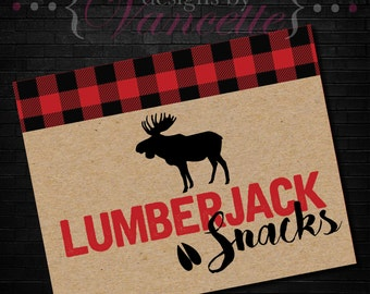 Lumberjack Snack Sign, Lumberjack Shower,Lumberjack Party, Snack Sign, Lumberjack Sign
