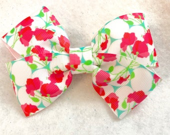 Girly Poppy Love Hair Bow