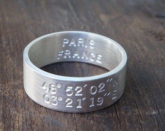 Latitude Longitude Ring (E0209)
