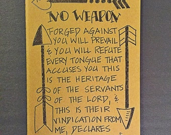 No Weapon forged againt you customized Moleskine journal